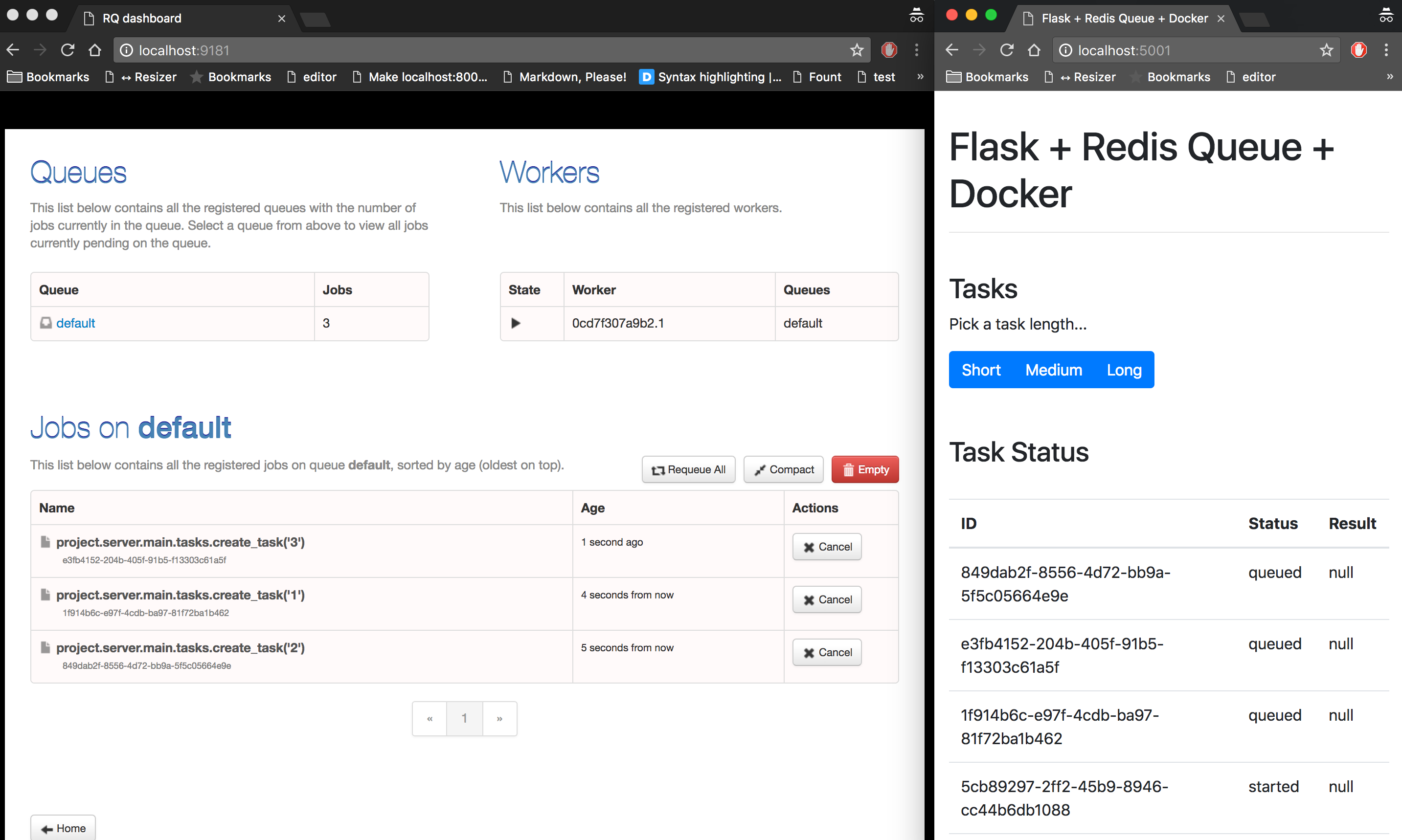 Asynchronous Tasks with Flask and Redis Queue | TestDriven io
