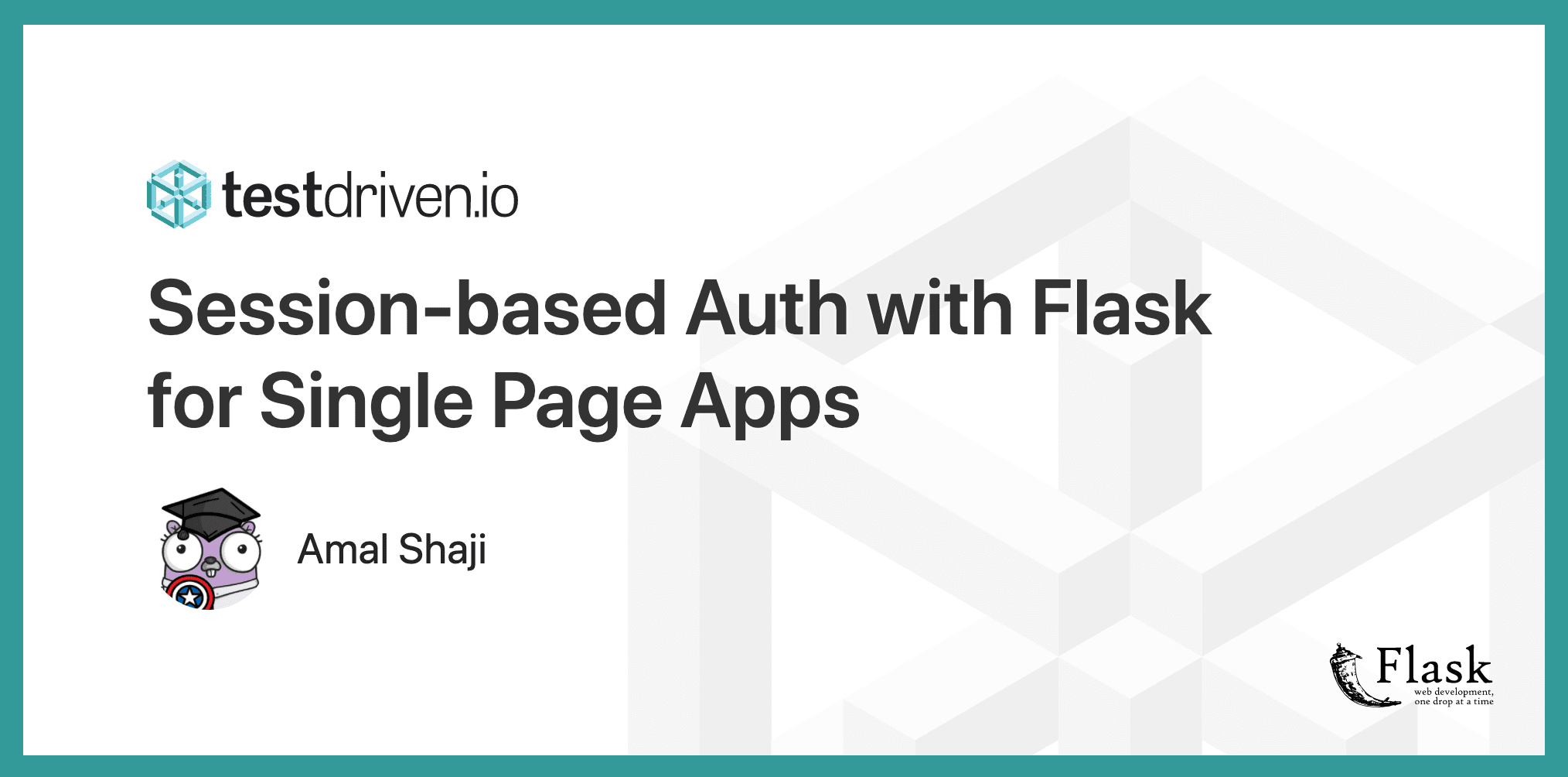 Session-based Auth with Flask for Single Page Apps