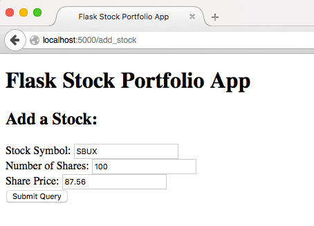 Firefox - Adding Different Stock